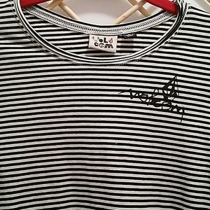 Volcom Tops - Volcom size S striped top, black/white stripe